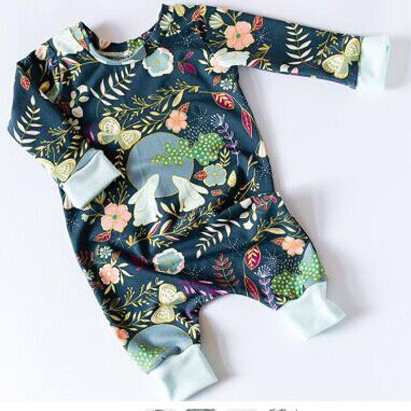Пасхальный подарок для новорожденных принт Moon Банни Одежда для маленьких мальчиков и девочек мультфильм кролик Детские Комбинезон Onesie Дет...