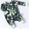 Luna de Impresión Conejito Regalo de pascua para Los Recién Nacidos Baby Girl Boy Ropa de Conejo de Dibujos Animados Bebé Mameluco Del Mono de Onesie Ropa de Los Niños
