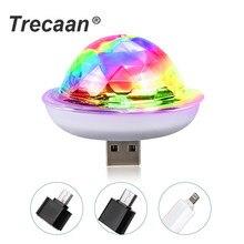 4 Вт мини USB звук вечерние светильник s диско светильник RGB волшебный хрустальный шар сценический светильник для рождества KTV Свадебный музыкальный Dj светильник