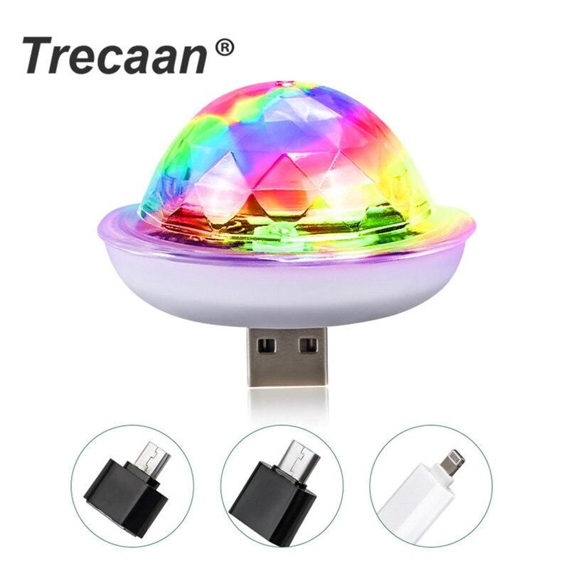 4W Mini USB Sound Party Lights Disco Light RGB Magic Crystal Ball Stage Light Effect For Christmas KTV Wedding Music Dj Light
