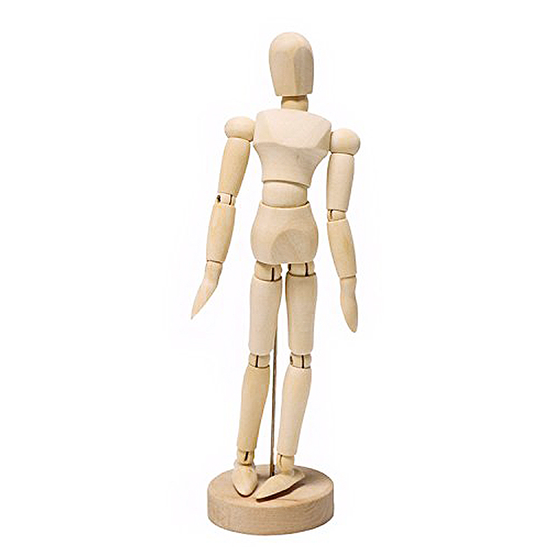 Wooden Drawing Draft 14 Various Poses Produced Drawing Material Movable Model Doll 14 Cm