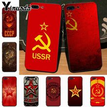 Yinuoda Soviet Union USSR Grunge Flag Painted cover  Cell Phone Case for iPhone 7plus X XS MAX XR 6 6S 7  8 8Plus 5 5S case ussr page 5 page 5
