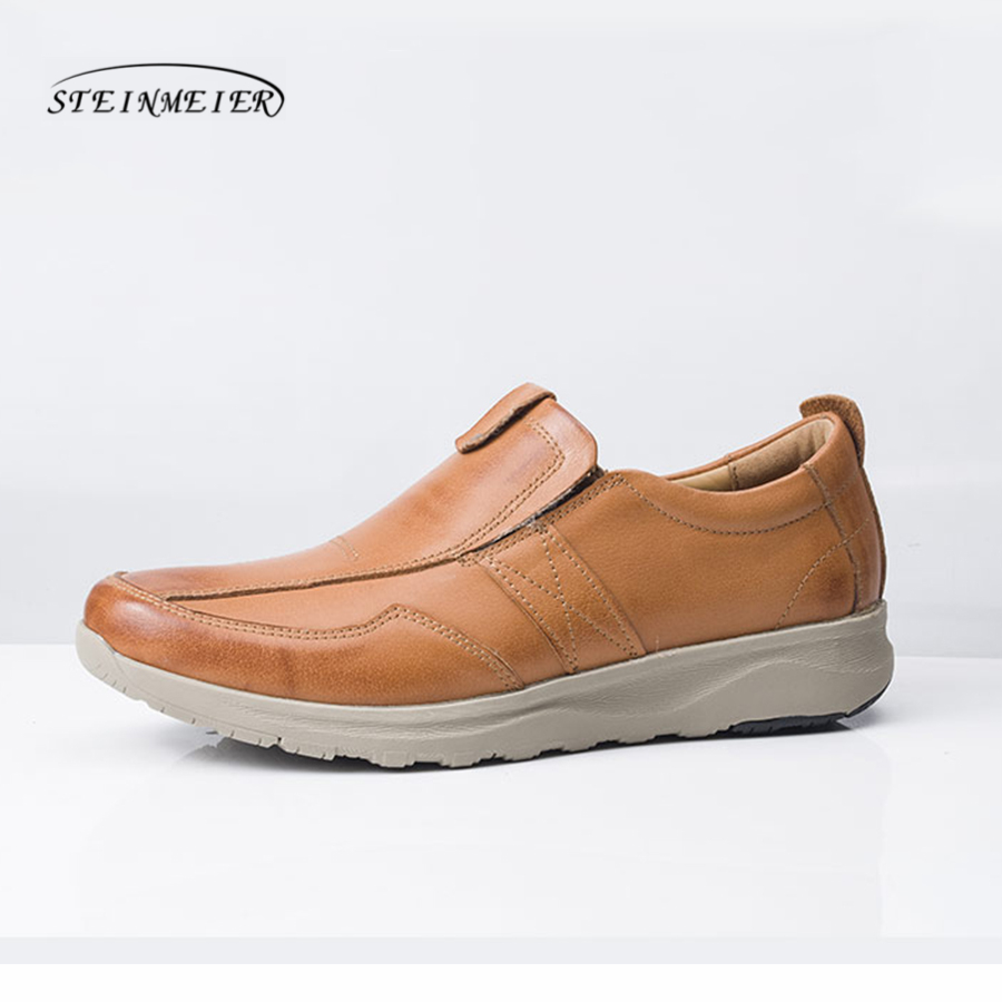 Men Leather Shoes Casual Men Loafers Flats Shoes Moccasins Men's Loafers Genuine Leather Male flat Shoes 53np 074 primary
