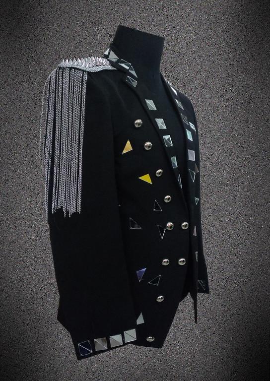 2017, Мужской Блейзер, пиджак, верхняя одежда, мужская одежда, белый, черный цвет, для певицы, танцовщицы, для выступлений, для жениха, вечерние, для шоу, на Рождество - 3