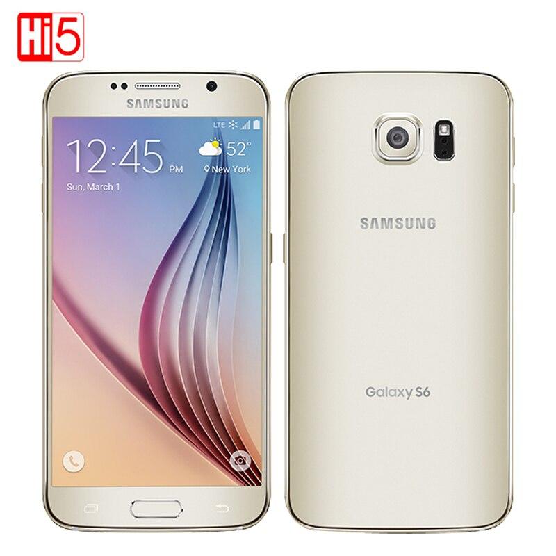 Unlocked Samsung Galaxy S6 G920F S6 Edge G925F Cell Phone Unlocked Octa Core 3GB RAM 32GB