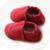 2016new lindo gamuza Genuina mocasines De Cuero Del Bebé primeros Caminantes Suaves zapatos del pesebre del bebé recién nacido niño Franja 0-30month chaussures
