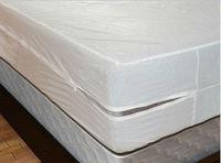 Anti Bed Bug White Size 183X183cm Smooth Allerzip Waterproof Mattress Encasement Cover With Zipper Box Spring