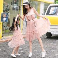 Mother Daughter Dress New Summer Family Dresses Mummy Daughter Girl Dress Kids Girls Party Dress