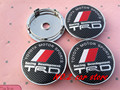 4pcs High quality 60mm TRD Wheel Center Hub Caps Wheel Dust-proof emblem covers car styling auto accessories