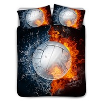 Bed Bedding Set 3D Volleyball Print Duvet Covers Bedding Sets
