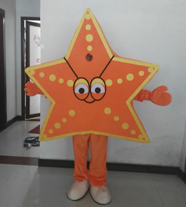 Newest Star Fish Mascot Costume Sea World Creatures Cartoon Character Mascotte Outfit Suit Halloween Fancy Dress Free Ship
