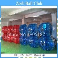 Бесплатная доставка 12 шт. (6 синий + 6RED + 2 туфли-лодочки) 1.5 м Диаметр ТПУ людской шарик надувной, bubblesoccer, bumperball для Футбол