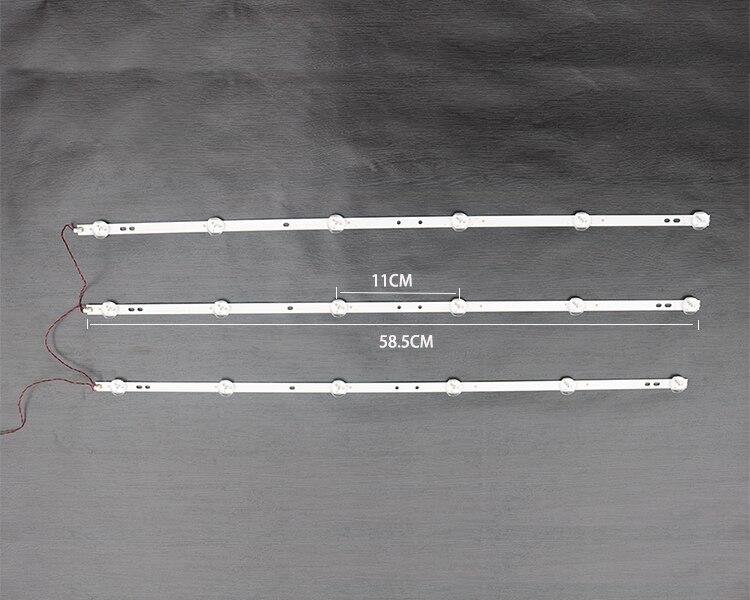 HS-32D3006v6c1b58410m-HX New 32inch LCD LED Universal Light Strip For Assembly Machine TV Universal 6LEDS Aluminum Plate 58.5CM