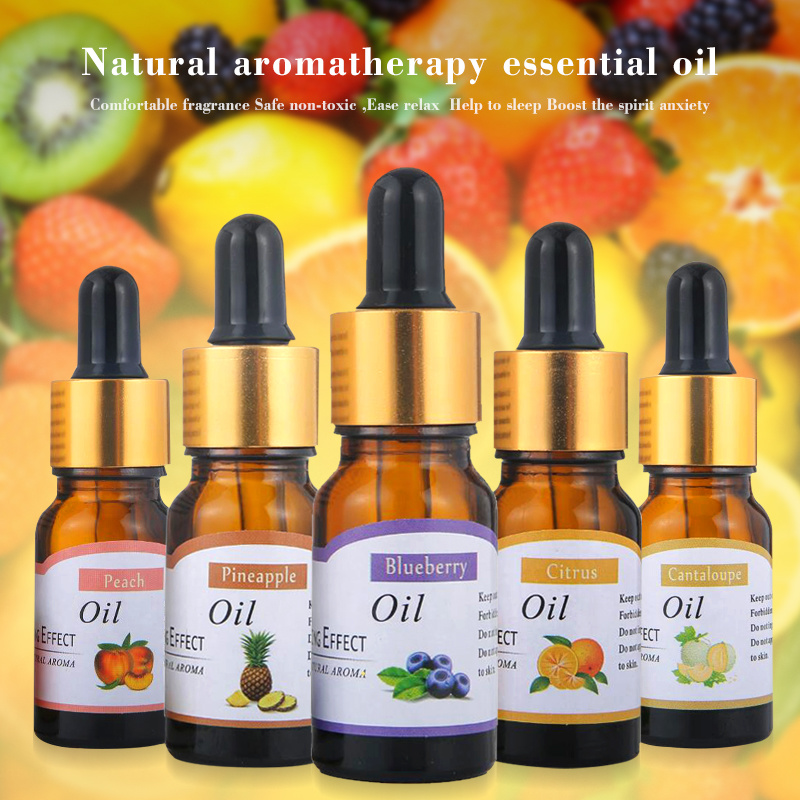 New 10ml Essential Oil Relieve Stress For Humidifier Fragrance Lamp Air Freshening Aromatherapy Water-soluble Flower Fruit TSLM1
