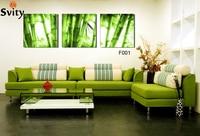 3 предмета в комплекте горячие продажи бамбука пейзаж картина, холст картина украшение дома для Гостиная No Frame