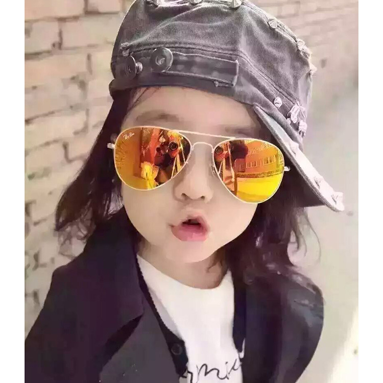Curtain Top Quality Baby Boy Girl sunglass Fashion Brand Kid children Cool Sun glasses UV400