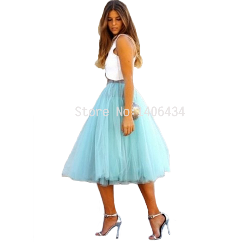 Ali woman Store Tulle Skirt High Waisted Womens Knee Length Skirt Party Fashion Tulle Skirts Elegant Skirts