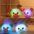 Marca nueva Glowing Happy Bear Soft Glow luz oso LED luminoso de peluche muñecos de peluche de juguete cojín almohada mejor regalo para los niños YZT0126