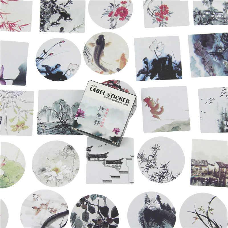 40 unids/pack japonés pegatinas Mini estilo Etiqueta de sello de papel/bricolaje decoración etiqueta