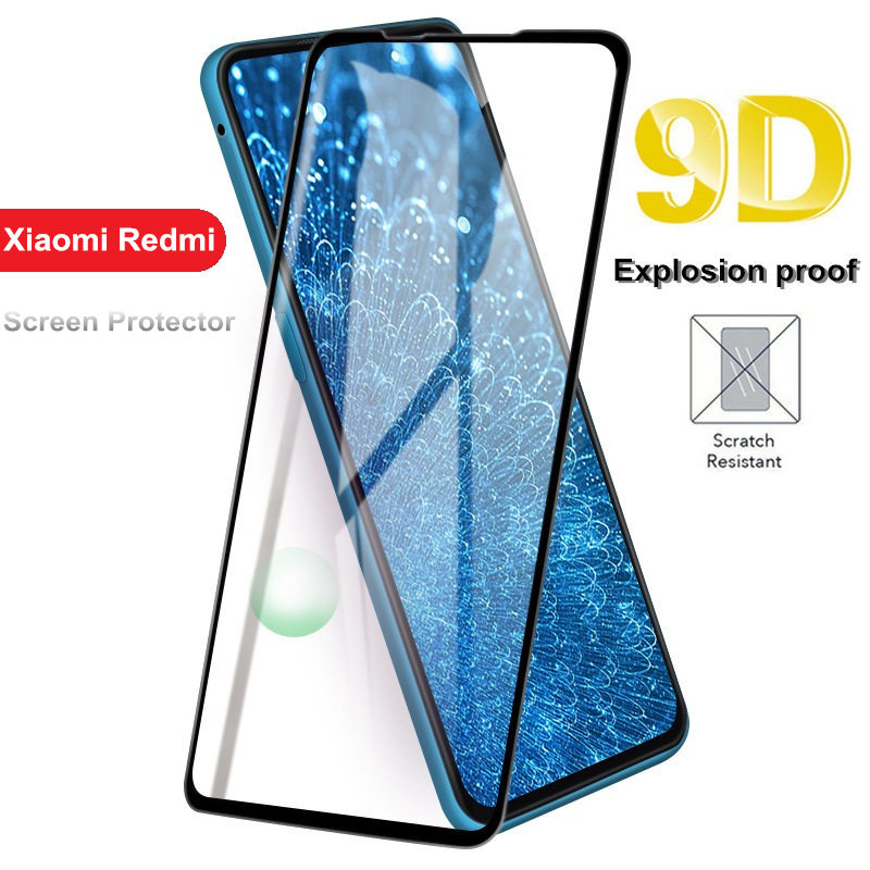 New 9D Tempered Glass For Xiaomi 6 8 Pro 9 SE Mi 8 Lite Pocophone F1 5X A1 6X A2 Lite Full Cover Screen Protector Film