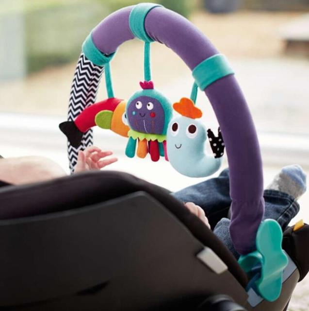 baby bed stroller car Seat  clip lathe hanging Rattle plush music toy
