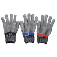 Cutting wire anti knife cutting gloves motor steel ring steel stainless steel 5 grade iron gloves elastic adjustment