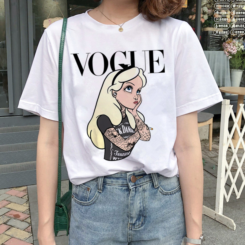 New Graphic Vogue   T     Shirt   Women Fashion Harajuku Ullzang Cartoon   T  -  shirt   Funny Printed 90s Tshirt Korean Style Top Tees Female