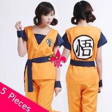 Free Shipping Dragon Ball Z Costume Men Women Goku Cosplay Dragon Ball Costume