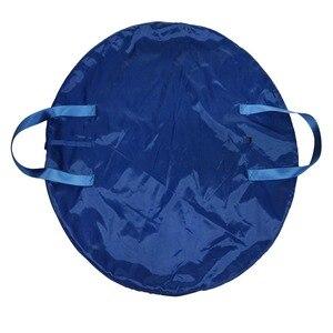 Image 2 - חיל הים כחול מקצועי בלט טוטו תיק ורוד עמיד למים בד גמיש ומתקפל רך בלט תיק פנקייק טוטו שמיים כחול