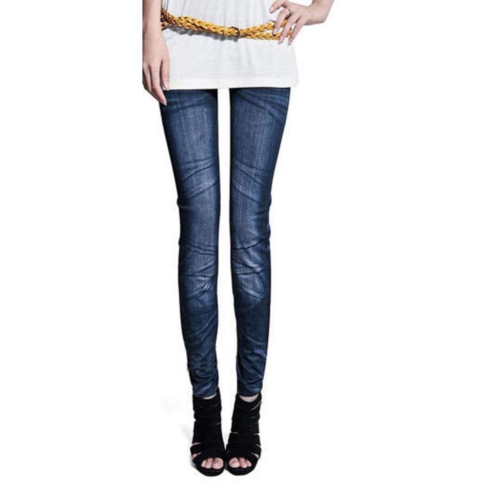 Women Vintage Denim Jeans Sexy Skinny Solid   Leggings   Elastic Femme Jeggings Stretch Pants Trousers Classic Pencil Pants