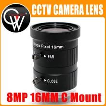 8.0Megapixels 4K 8MP 16mm F1.4 C Mount Professional 1