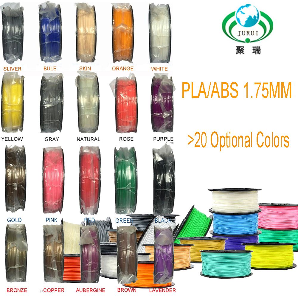 PLA ABS 3d printer filament more colors 1 75mm Optional For MakerBot RepRap plastic in 3D Printing Materials from Computer Office