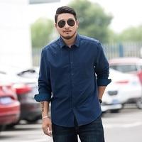 new Plus Size 8XL 7XL Men's Plaid 100% Cotton Dress Shirts Male Long Sleeve Slim Fit Business Casual Shirt Camisa For Man