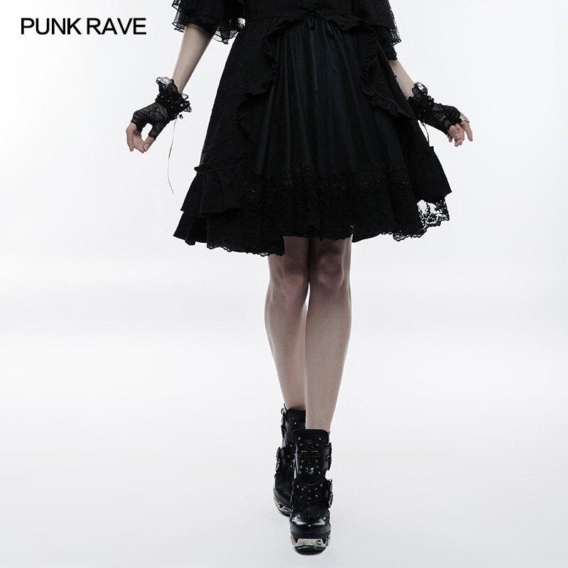 Primavera Las 082bqf Cremallera De Rave Mujeres Punk Gótica Moda Black Falda Burbuja Wlq Lazo Slim Invisible Negro Jacquard Lolita FSvSwB