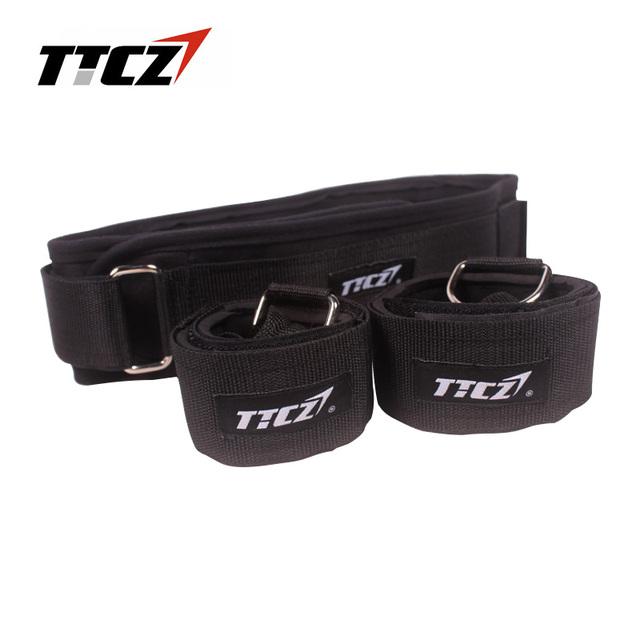 TTCZ Fitness Bounce Trainer Rope Resistance Band  Basketball Tennis Running Jump Leg Strength Agility Training Strap  equipment