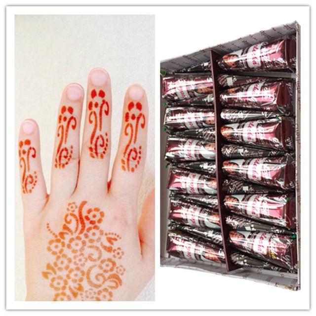 1 Pcsnatural India Planta De Pasta De Henna Tatuaje Para Cuerpo