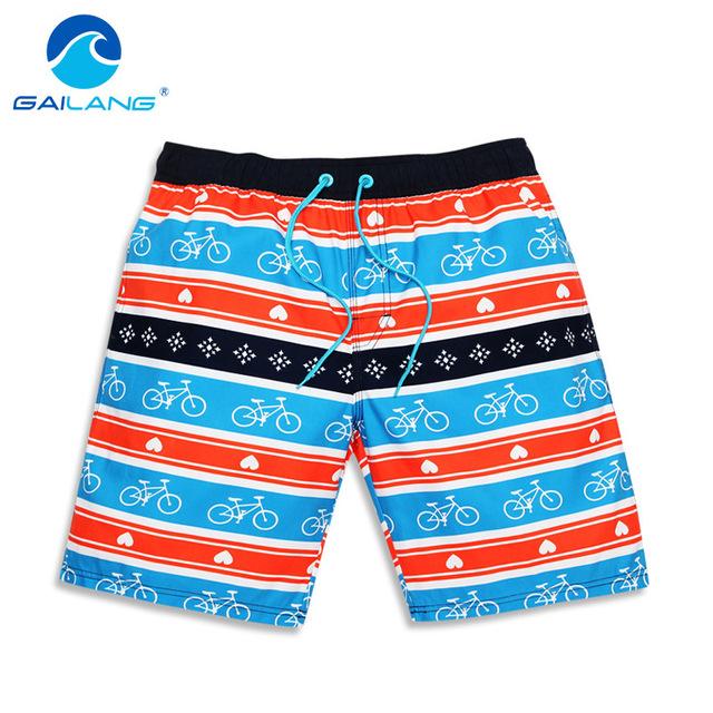 Gailang Marca Hombres pantalones Cortos de Playa Casual poliéster Hombre Bañadores Traje de Baño traje de Baño Boxeador Troncos para Hombre Bermudas de Secado rápido