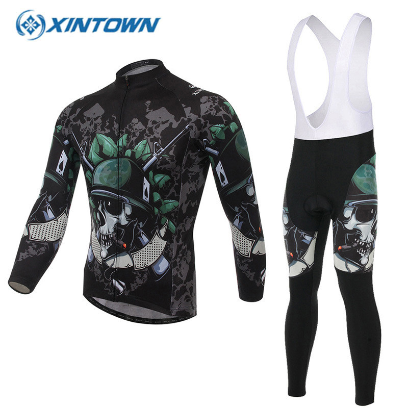 XINTOWN Funny cycling jerseys 2018 Long Sleeve Clothes mallot ciclismo Bicycle Sportwear MTB Ropa Ciclismo GEL Pad Bike Clothing цена