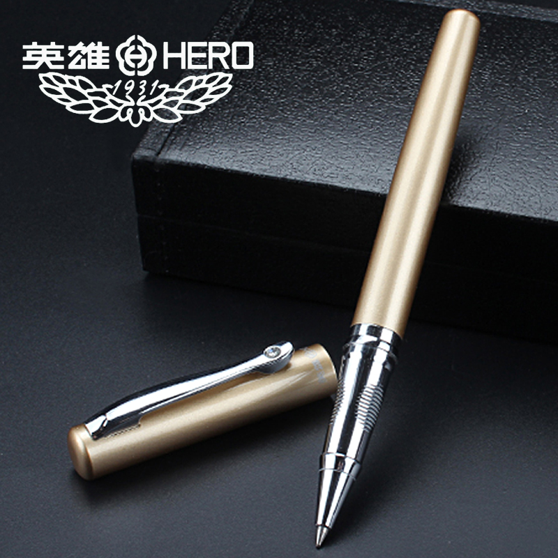 QSHOIC box gift pen box metal pen metal ballpoint pen Birthday gift custom writing roller ball pen