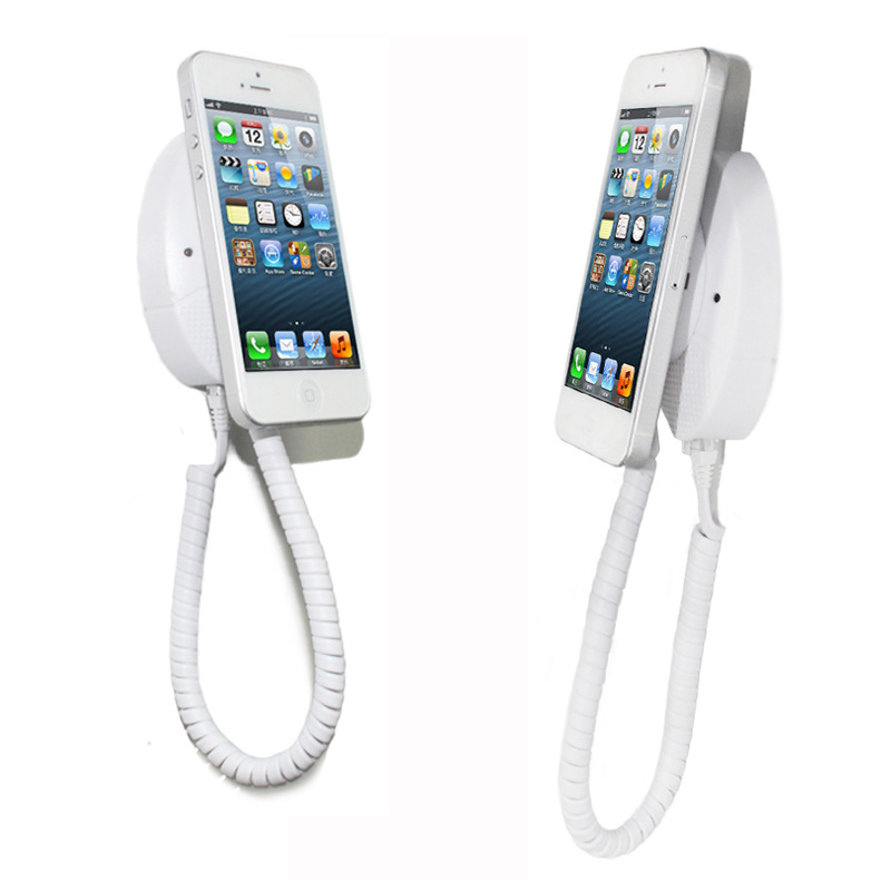 Mobile cell phone security display ipad anti-theft stand smart phone burglar alarm holer loss prevention for electronics retail 5 set lot cell phone security anti theft display stand with alarm and charging function for mobile phone retail store exhibition