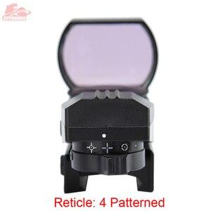 Image 5 - 20 ミリメートル/11 ミリメートルホロ視力ライフルスコープ狩猟オプティクス照準装置 4 レチクル視力反射赤グリーンドット