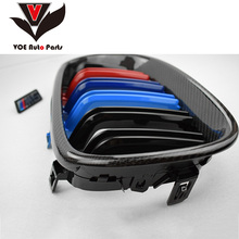 2004 2005 2006 2007 2008 2009 E60 Gloss 3-color Carbon Fiber M5 Style Auto Car Styling Racing Grill Grille for BMW E60 5 Series