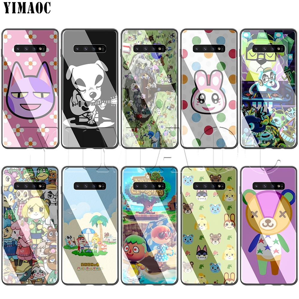 YIMAOC Animal Crossing Glass Case for <font><b>Samsung</b></font> Galaxy S7 S8 S9 S10 Note 8 9 10 Plus A50 <font><b>A10</b></font> A70 A20 image