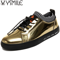 High Quality Gold Men Casual Shoes Superstar Brand Footwear Black Male Shoes Thick Bottom Fashion Men