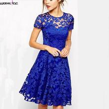 Vestido de Renda Summer Lace Dress Female Plus size 2xl 3xl Dress 2017 Casual party Mini Dresses Short Sleeve Lady Boho Dress