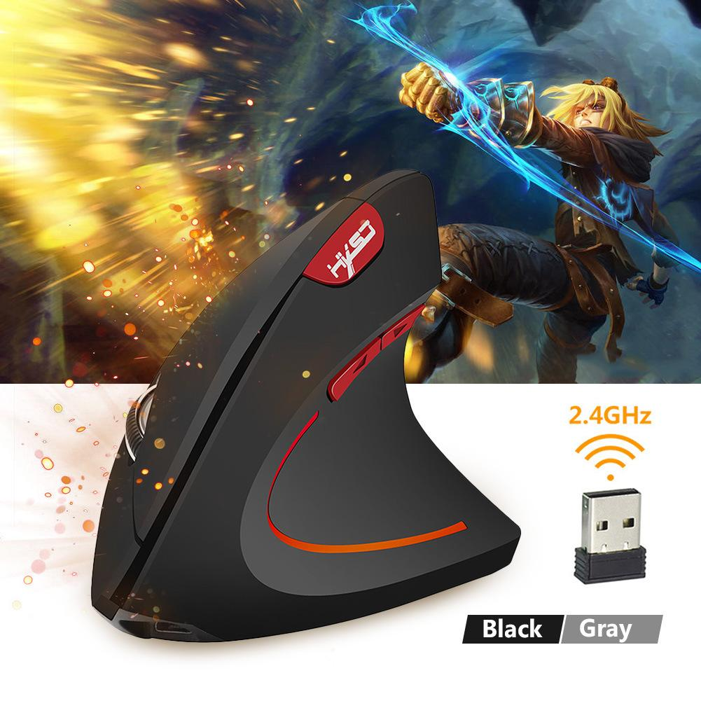 Rechargeable Wireless Mouse 2.4GHz Vertical Gaming Mouse 800 1600 2400 DPI Ergonomic Computer Mice For PC Laptop Office USB rechargeable wireless mouse 2 4g 2400 dpi slient button gaming mouse built in battery with charging cable for pc laptop computer
