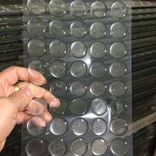 100 piezas transparente redonda/Flash 3D adhesivo epoxi círculos de la tapa de la botella de la resina parche puntos de tapa de botella de bricolaje 16/20/25mm