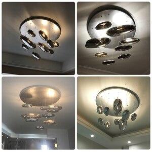 Image 5 - GZMJ moderne Mobile mercure suspension lumières 110 240V argent suspension lampe ampoule LED maison décorer Hanglamp pour salon suspension lampe