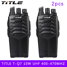 (2 PCS) two way radio BUXUN T-Q7 Drop the waterproof Hotel road Three 10w power proofing walkie talkie