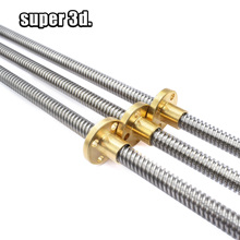 Lead Screw Dia 8mm Thread 4mm T8*4 Length 200 250 300 400 500 600 mm trapezoidal spindle screw with Brass copper Nut цены онлайн
